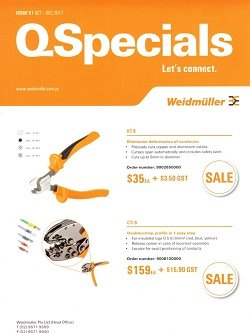 "Our trusted supplier Weidmuller have released a new issue of their Q-Specials. To view issue 51 - October to December 2017 Q-Specials. click ""download this document"" below."